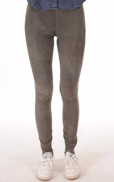 Legging cuir velours gris1