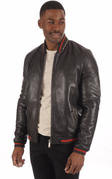 Teddy Cuir noir Homme1