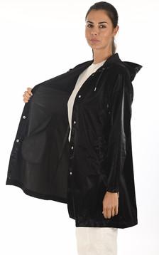 Imperméable A-Line noir