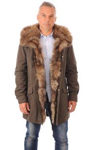 Parka Homme Coton et Raccoon