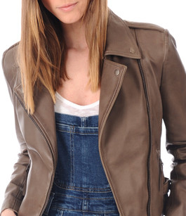 Blouson City Girl Taupe Serge Pariente