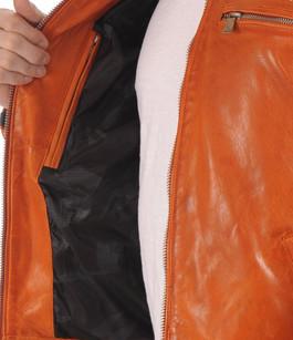 Blouson Motard Cardiff Orange Redskins