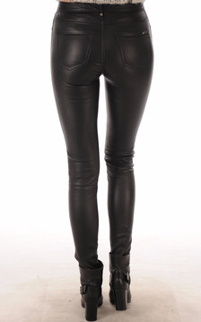 Pantalon agneau stretch noir