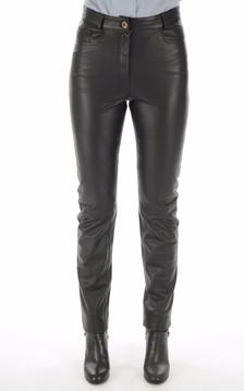 Pantalon Cuir Noir Coupe Droite1