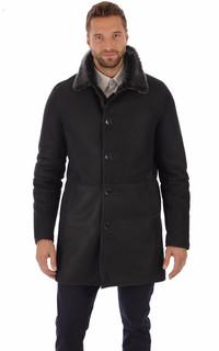 Manteau en cuir agneau brisa bleu foncé