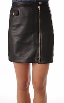 Mini Jupe Cuir Noir1