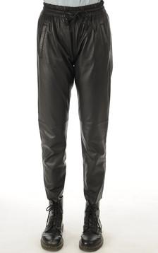 Oakwood - Pantalon Jogpant Cuir Noir1