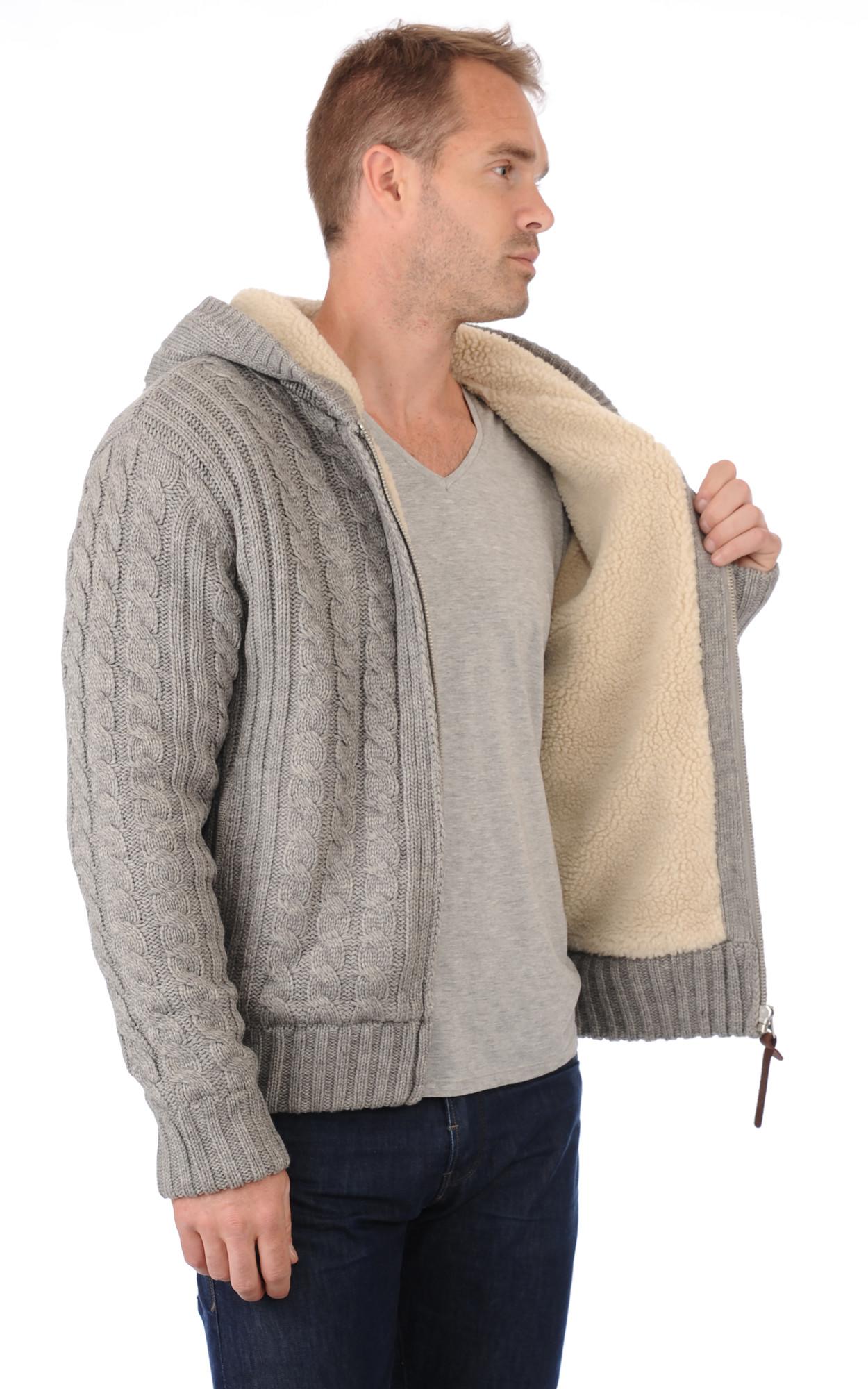 Gilet Gris zippé laine