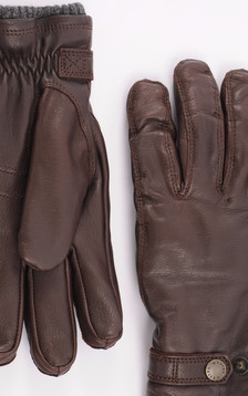 Gants en cuir cerf marron foncé