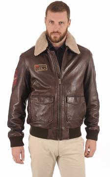 Blouson cuir aviateur pour homme   La Canadienne e09740968c7