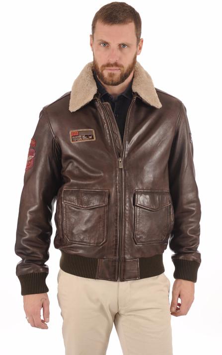 Milestone Homme   Vestes et blousons en cuir Milestone pour homme baf3a9878783