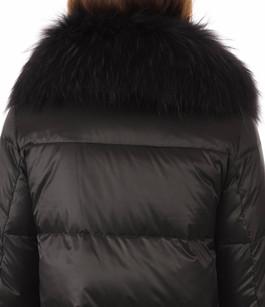 Doudoune Longue Noire Style Camouflage Gallotti