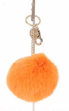 Porte-clé lapin orange