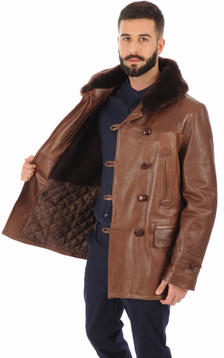 Canadienne Marron en Cuir