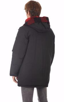 Doudoune réversible noire Textile