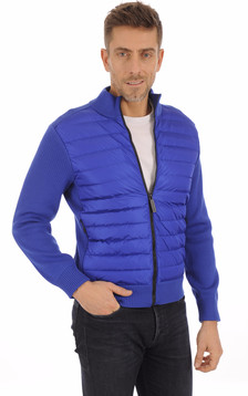 Gilet Hybridge Knit Pacific Blue1