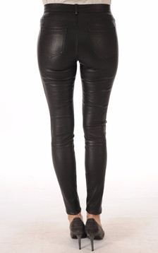 Pantalon Cuir Stretch Noir
