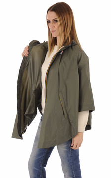 K-Way - Cape imperméable Morgane kaki