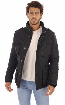 Parka multipoches Field Noir1