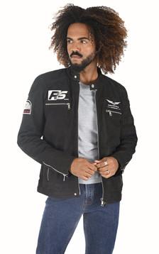 Blouson moto Luther noir