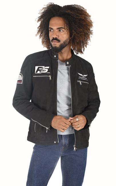 Blouson moto Luther noir Redskins