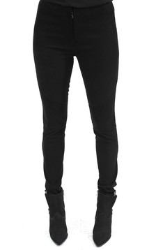 Pantalon Slim Cuir Stretch Velours1