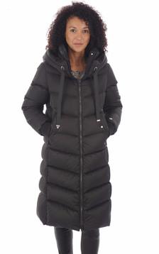 Doudoune longue noire femme1