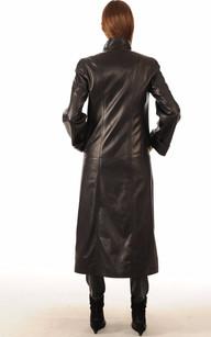 Manteau et parka cuir femme long