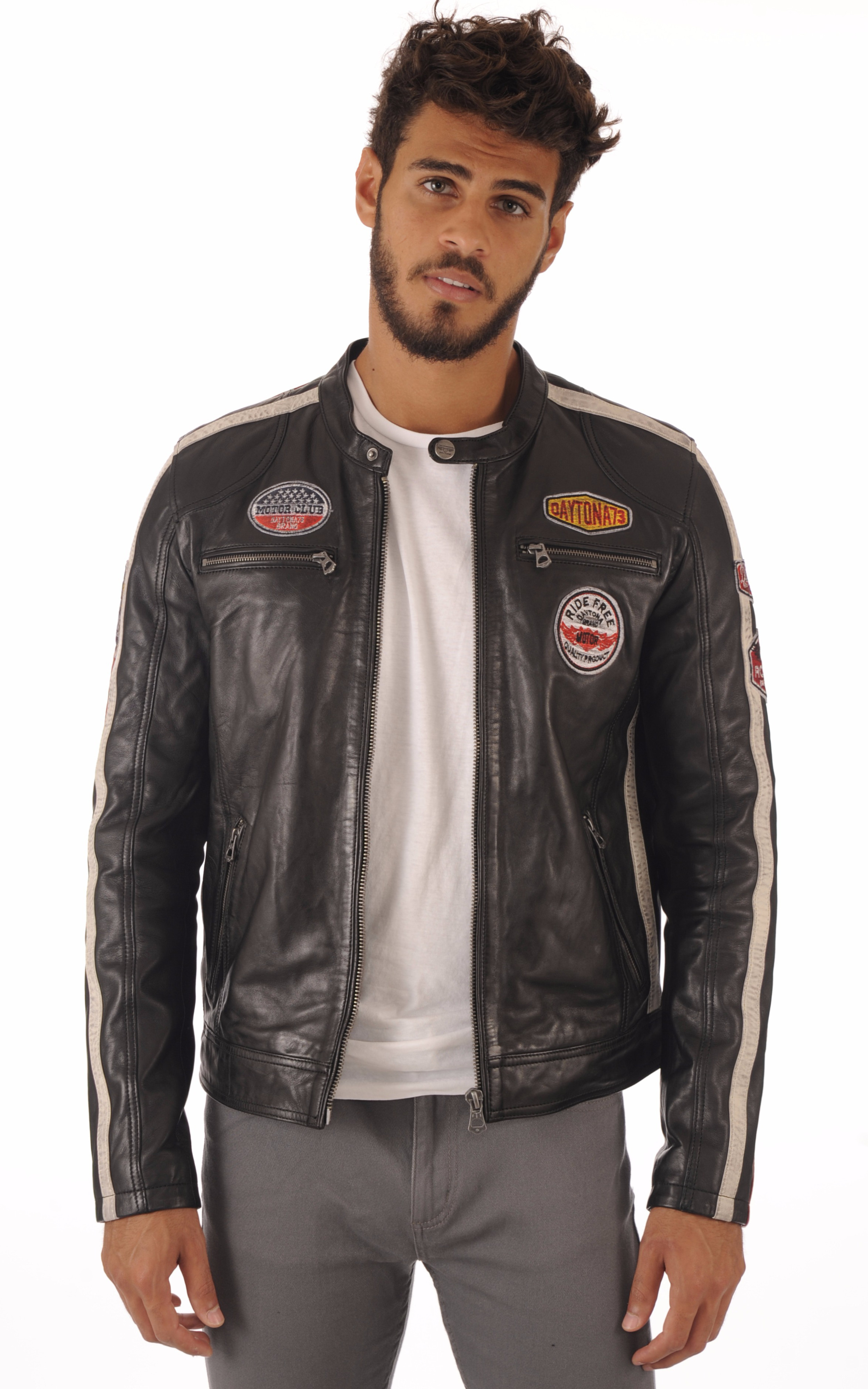 Blouson Oliver noir Daytona 73
