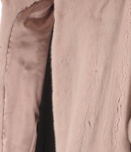 Veste en vison rose clair Nevepelle