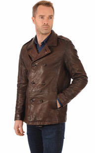 Veste Cuir Style Caban1