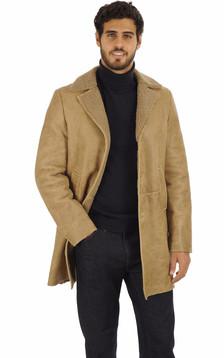 Peau lainée beige