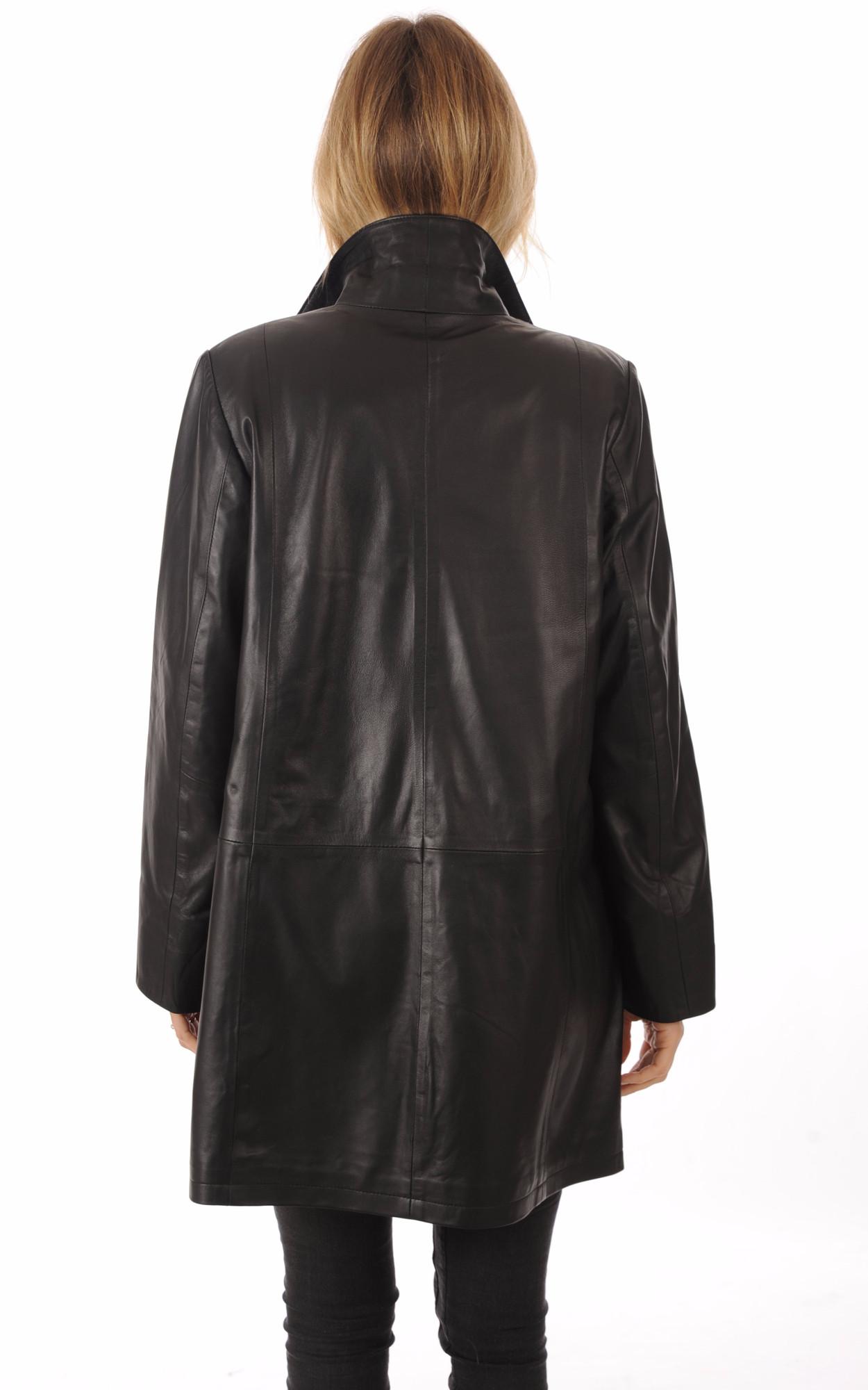 Veste Longue Cuir Grande Taille