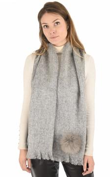 Echarpe en mohair gris