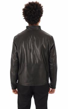 Blouson Monaco cuir noir