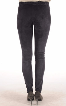 Legging Cuir Stretch Bleu Marine