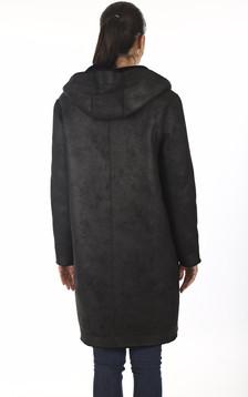 Manteau Angelique réversible noir