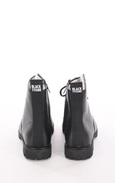 Boots en cuir mouton noires