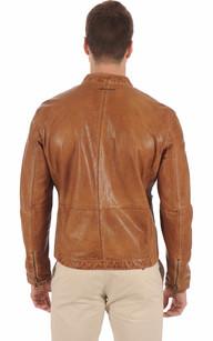 Blouson Style Motard Cognac Redskins