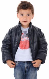 Blouson Cuir Enfant Mixte1