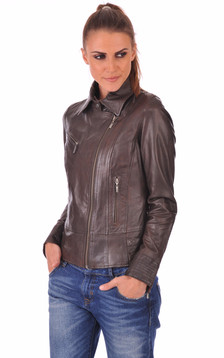Blouson Juliette Marron1