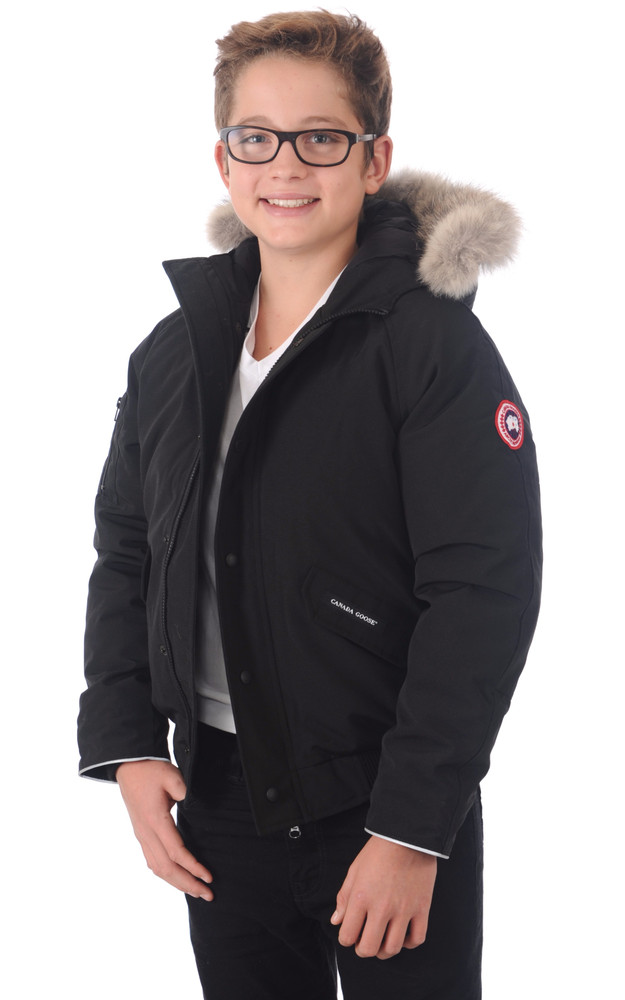 blouson rundle bomber noir canada goose la canadienne doudoune parka textile noir. Black Bedroom Furniture Sets. Home Design Ideas