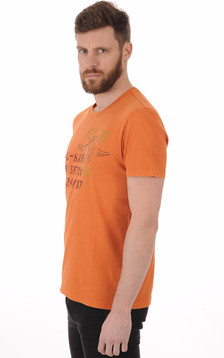 T-shirt Imprimé Aero Orange1