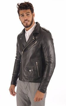 Perfecto Cuir Homme Col Fourrure1