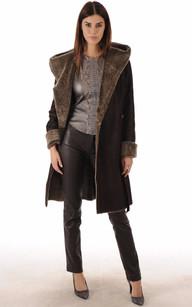 Vente manteau peau retournee femme