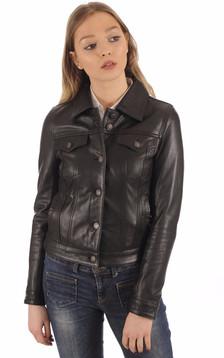 Blouson Femme Jeans Girl Noir1