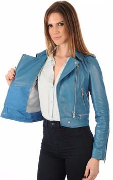 Blouson Perf Femme Bleu Canard