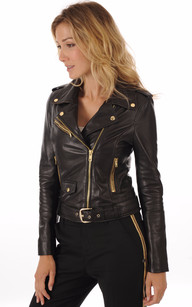 Blouson Perf Rock Girl Gold Serge Pariente