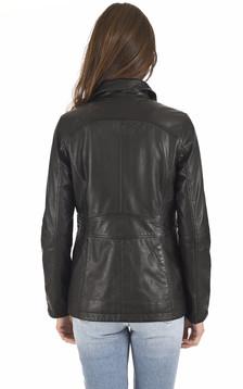 Veste confort cuir noir
