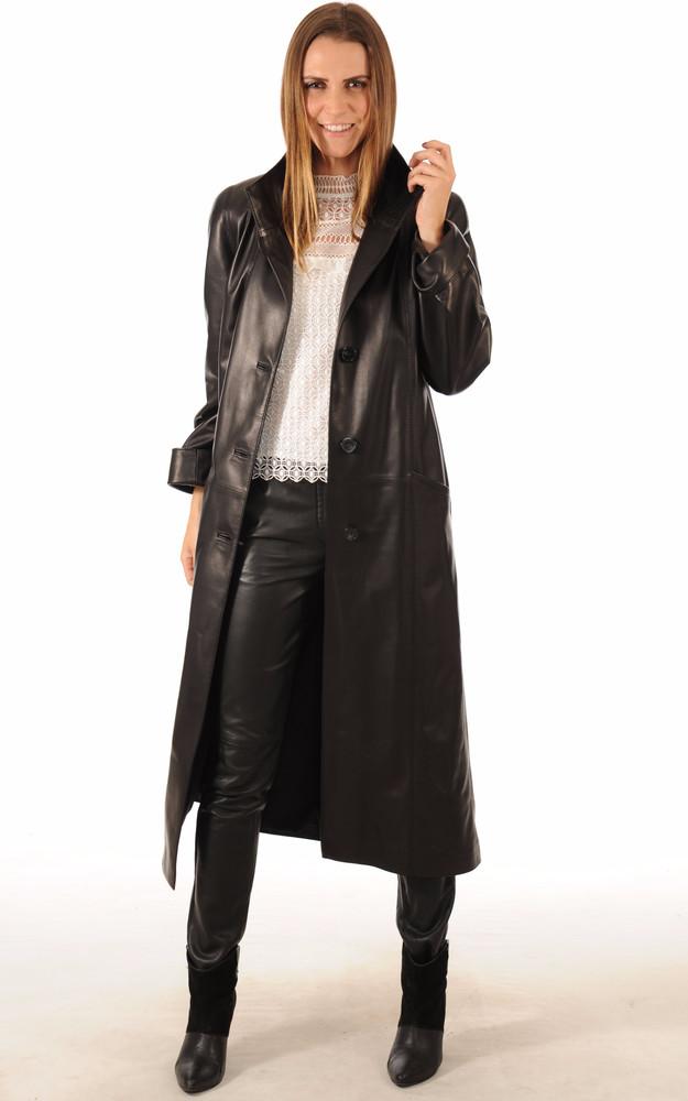 Manteau Cuir De Vachette Femme Taille S
